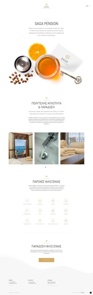 Saga Pension official website by Greatives Web Design agency in Athens, Greece